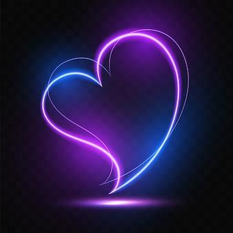 Serce świecące światła projekt