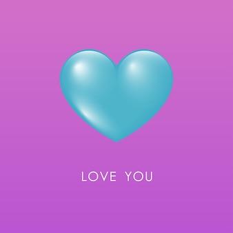 Serce sylwetka symbol miłości kształt minimalistyczny ikona.