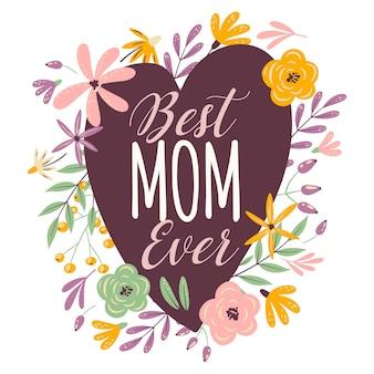 Serce szczęśliwy dzień matki