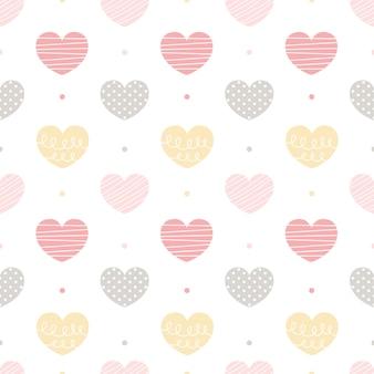 Serce tło wzór