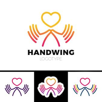 Serce w dłoń symbol