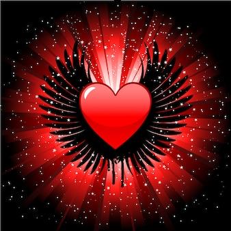 Serce w tle