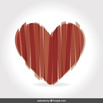 Serce wykonane w pionowe paski