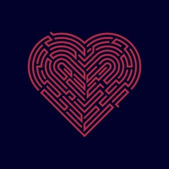 Serce z labiryntu