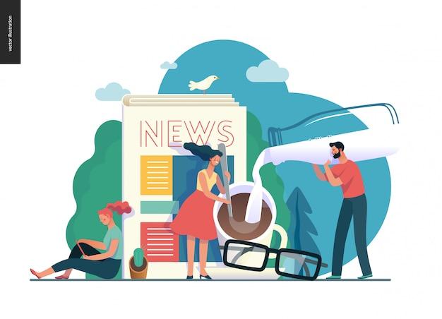 Seria biznesowa - aktualności lub artykuły, szablon sieci