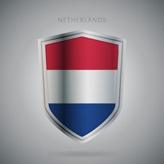 Seria flagi europy ikona holandia.