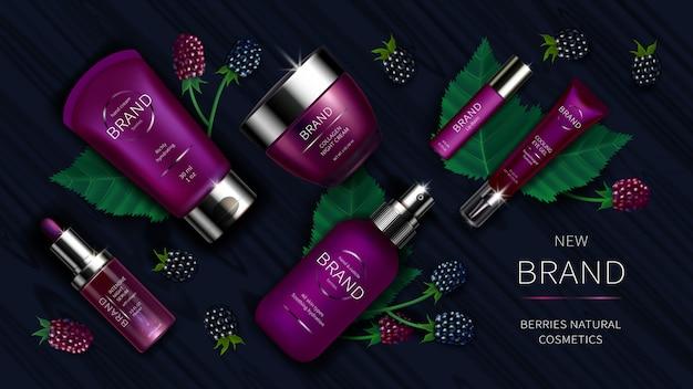 Seria kosmetyków z dzikimi jagodami realistyczna