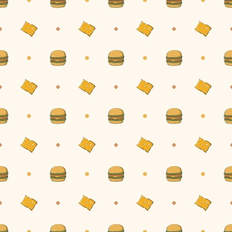Serowy burger bez szwu wzór
