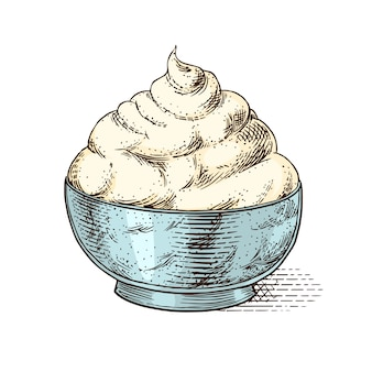 Serowy mascrapone na targ lub do sklepu spożywczego