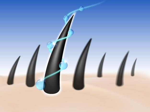 Serum do pielęgnacji włosów i odżywia skórę głowy.