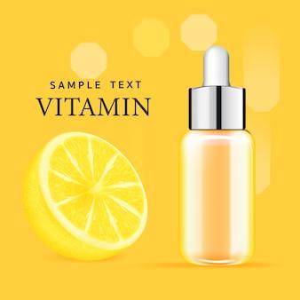 Serum facial treatment essence skin care cosmetic.