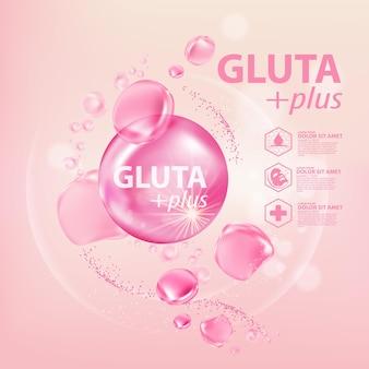 Serum kolagenowe gluta kosmetyk do pielęgnacji skóry