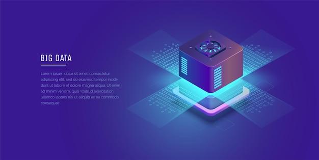 Serwer przestrzeń cyfrowa przechowywanie danych centrum danych big date