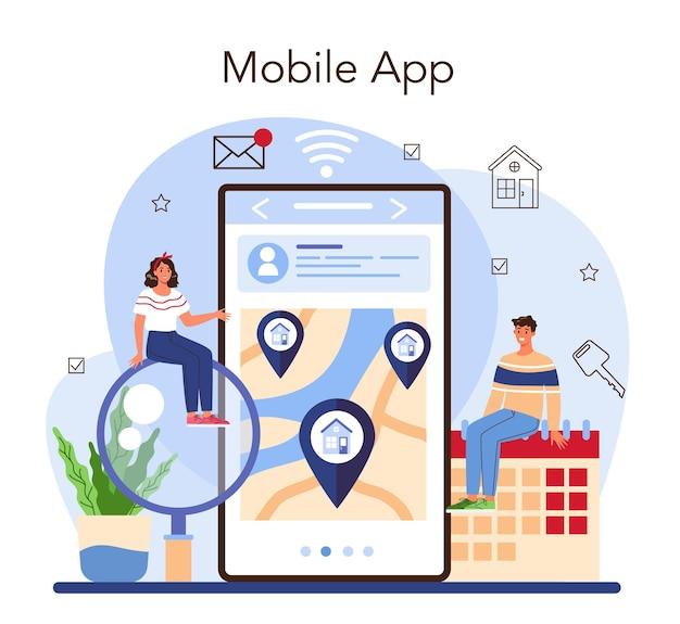 Serwis internetowy agencji nieruchomości lub platforma relokacja nowego domu