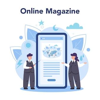 Serwis lub platforma internetowa dla meteorologów