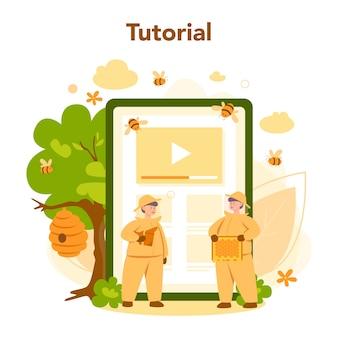 Serwis lub platforma internetowa dla pszczelarza lub pszczelarza
