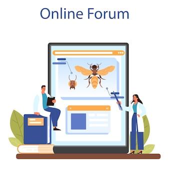 Serwis lub platforma internetowa dla zoologów. naukowiec badający i badający faunę