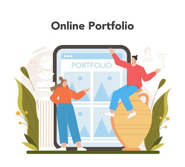Serwis lub platforma internetowa rzeźbiarz
