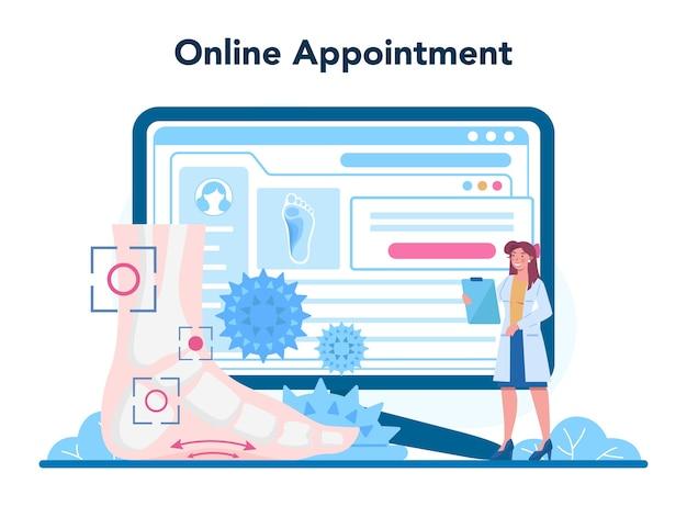 Serwis lub platforma online dla lekarza ortopedii