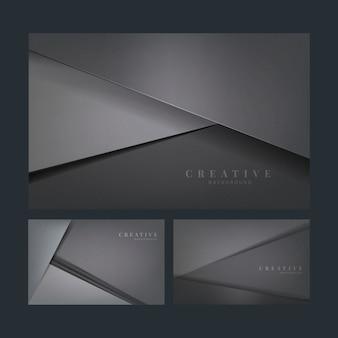 Set abstrakcjonistyczni kreatywnie tło projekty w zmroku - szarość