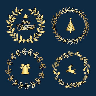 Set bożenarodzeniowe odznaki wektorowe