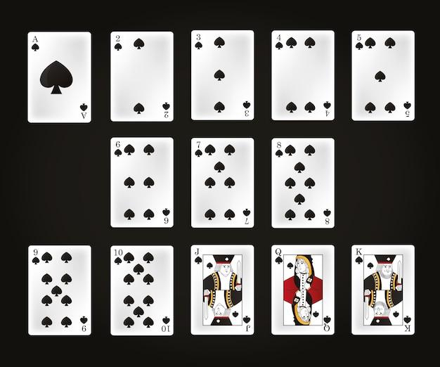 Set czas wolny karty nad czarnego tła wektorowym ilustracyjnym graficznym projektem