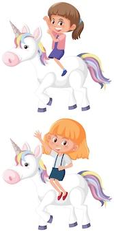 Set dziewczyny jeździecki jednorożec