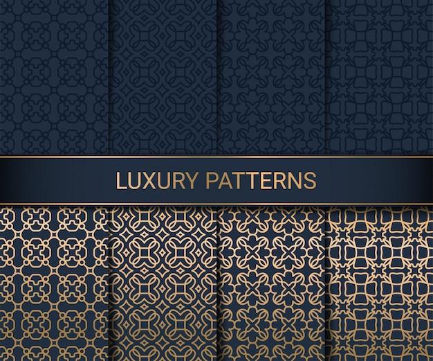 Set luksusowa bezszwowa wzór grafika, ilustracja