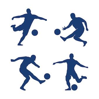 Set strzałkowaty akci futbolu projekta ilustracyjny wektor