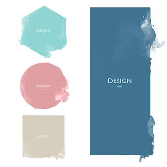 Set zawiadomienie odznaki szablonów projekta ilustracja