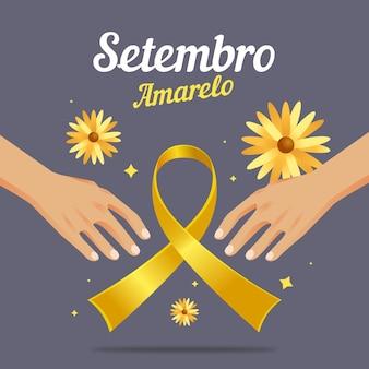 Setembro amarelo tło z rękami