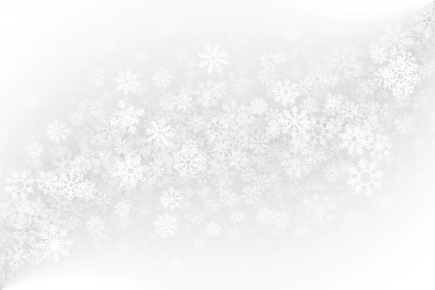 Sezon zimowy puste białe tło