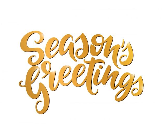 Sezonowe pozdrowienia złote litery