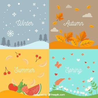 Sezonowe związanych tła