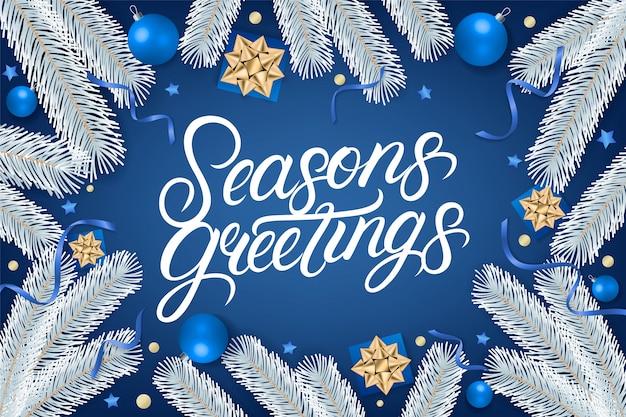 Sezony pozdrowienia napis tekst