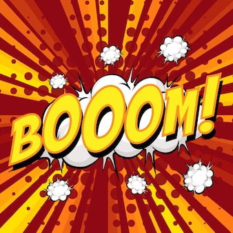 Sformułowanie boom komiks dymek na wybuch