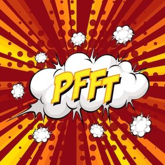 Sformułowanie komiksu pfft dymek na pęknięcie