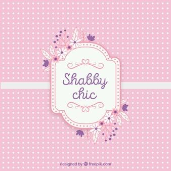 Shabby chic tekst karty