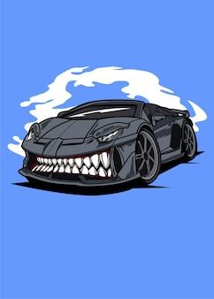 Shark monster car