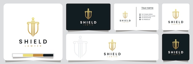 Shield lawyer, dla twojego bezpieczeństwa, inspiracja do projektowania logo