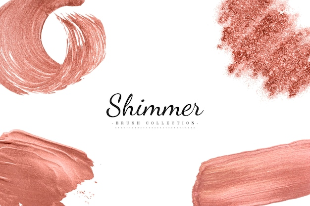 Shimmer brush set vector