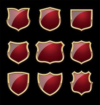 Shinny shield ze złotymi ramkami