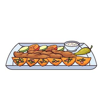 Shish taouk to typowe jedzenie z libanu