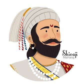 Shivaji maharaj ilustracji