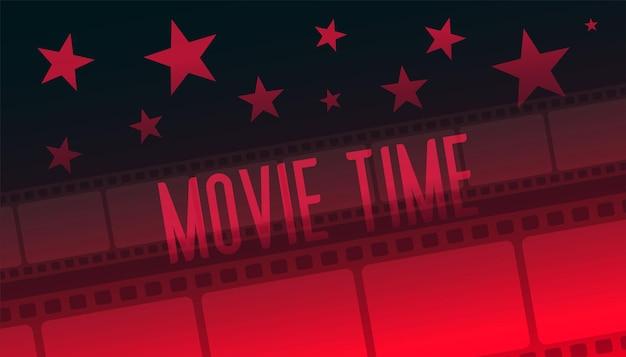 Showtime film czas taśmy filmowej czerwone tło