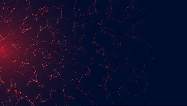 Siatka sieciowa low poly ze świecącym światłem