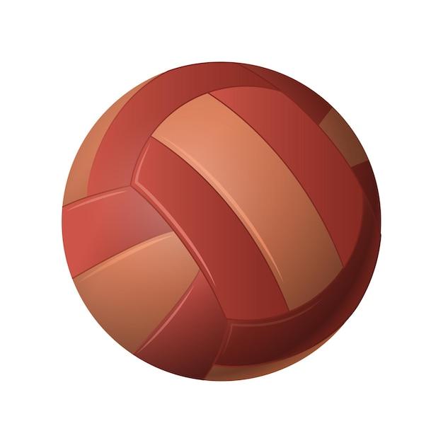 Siatkówka - nowoczesny wektor realistyczny na białym tle obiekt na białym tle. gra, koncepcja sportu. użyj tej wysokiej jakości grafiki do prezentacji, banerów, ulotek