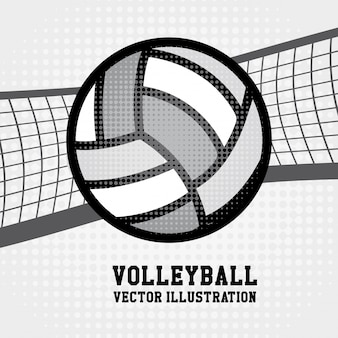 Siatkówka sport na kropkowanym tle ilustracji wektorowych