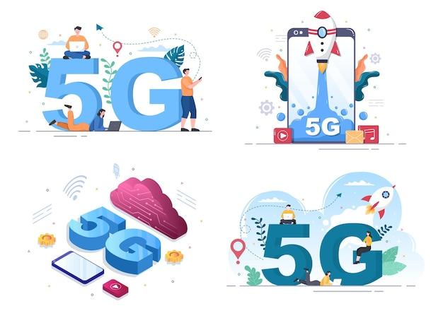 Sieć bezprzewodowa technologia smartphone ilustracja wektorowa