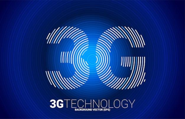 Sieć komórkowa linia tętnienia sygnału 3g. koncepcja technologii danych karty sim telefonu komórkowego.